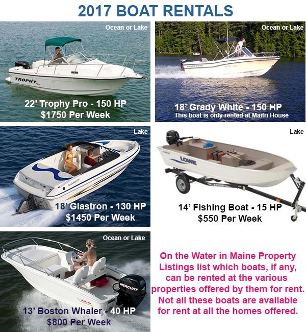 2017 Boat Rental Offerings